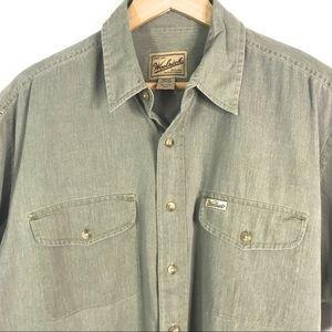 Woolrich shirt Size L Green Short Sleeve